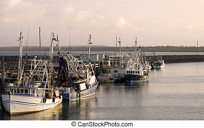 Fishing boats in Hervey Bay/Australia
