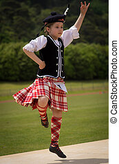 Highland Fling - A girl performs the Highland Fling.