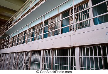 Prison cell block at Alcatraz
