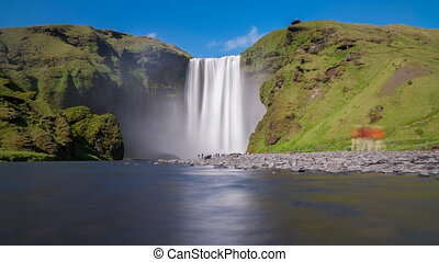 Skogafoss waterfall - 4K long exposure of skogafoss...