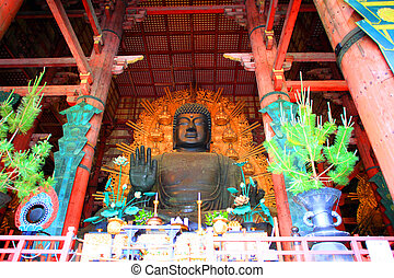 Great Rushana Budda in Todaiji, Nara, Japan