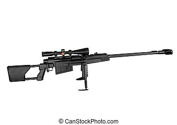 sniper rifle - long range sniper rifle isolated