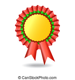 Vector Award Ribbon with  Isolated on White Background.