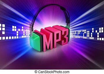 Head phone with mp3