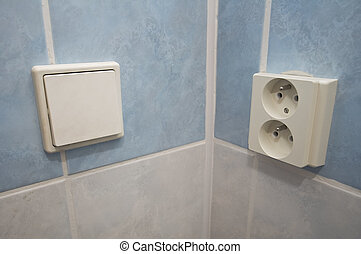 electrical outlet - photo of an European power outlet and a...