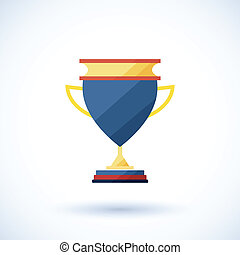 symbol of a cup of the winner with a shadowvector...