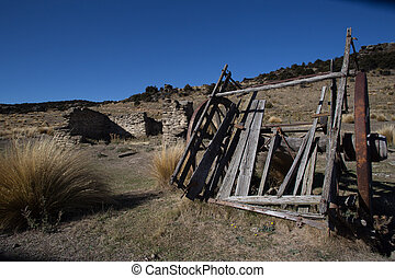 Old Wagon - The relic of an old wagon at the Bendigo...
