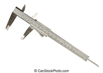 Vernier caliper (slide gauge) isolated on a white...