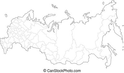 Map of Russia - This is a simple map of Russia