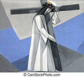 2nd Stations of the Cross, Jesus is given his cross, Church...