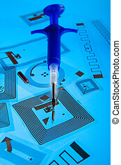 RFID implantation syringe and tags - RFID implantation...