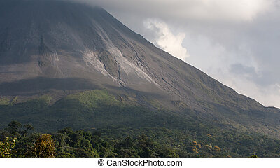 Arenal Volcano in Costa Rica in the summer