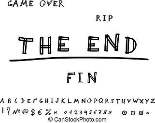 Game over. Hand drawn. Vector eps8 - Hand Drawn The End...