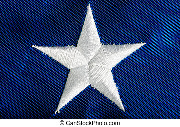 Embroidered star American flag macro