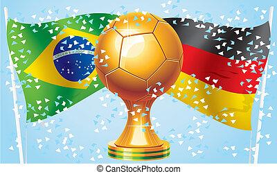 Germany Brazil - Final World Cup Soccer 2014 Germany Brazil