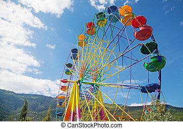 ferris wheel - Big ferris wheel against the blue sky