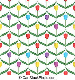 Tulips seamless pattern