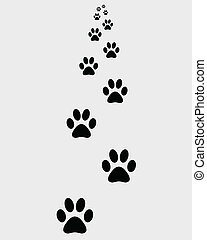 prints of paws - Black prints of paws of dogs, vector...