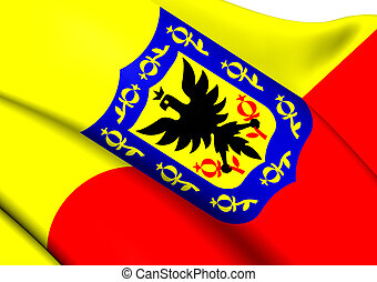 Flag of Bogota, Colombia Close Up
