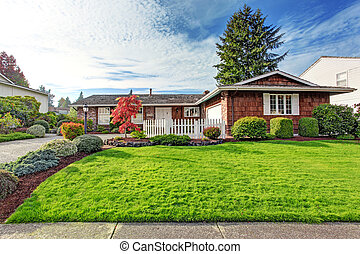Beautiful house exterior with curb appeal - One story house...
