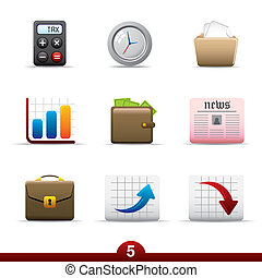 Icon series - business - Business icon set from a series in...