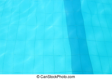 Ground of a swimming pool with water waves