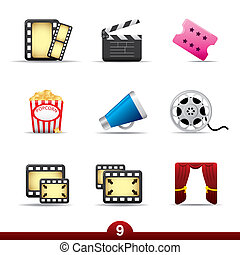 Icon series - movie and film - Movie and film icon set from...