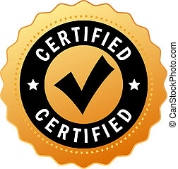 Vector certified icon