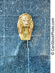 Lion sculpture water fountain - Lion water fountain...