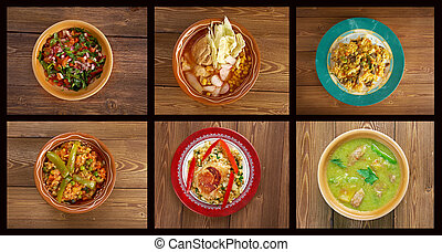 southern food.Latin American cuisine - Food set . southern...