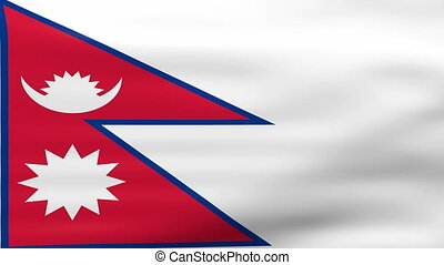 Waving Nepal Flag, ready for seamless loop.