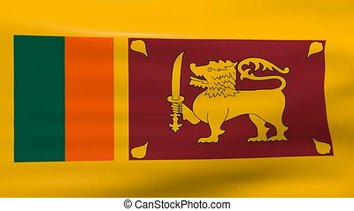 Waving Sri Lanka Flag