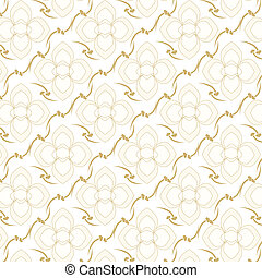 seamless vector two tone colors floral pattern background