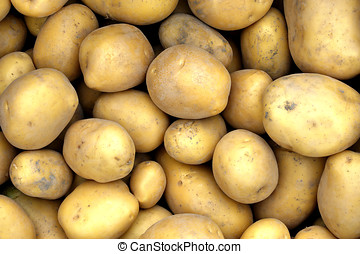 Potatoes - Close up of fresh new potatoes at the greengrocer