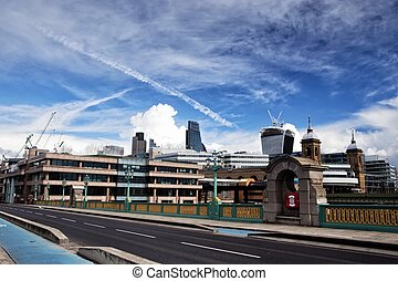 Southwark Bridge and City of London - The City is a part of...