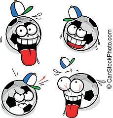 Football smiley faces