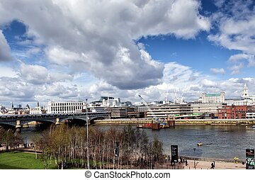 Blackfriars Railway Bridge London, United Kingdom -...