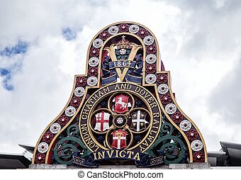 Badge of the LCDR from the first Blackfriars Railway Bridge...