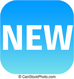 blue text new icon for app