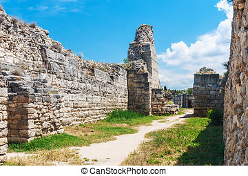 main gate of the ancient Chersonesos - main gate of the...