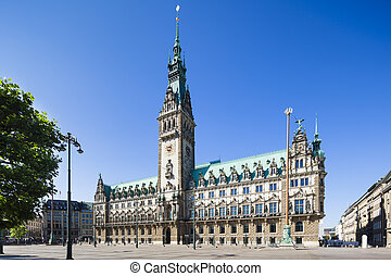 Hamburg Town Hall - The famous town hall in Hamburg, Germany