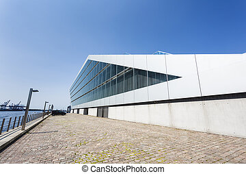Dockland, Hamburg - Side view of the beautiful Dockland...