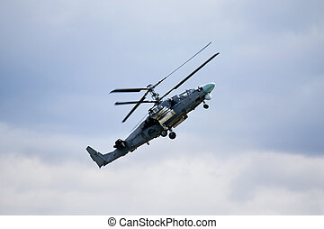 Combat helicopter - Modern russian attack helicopter in...