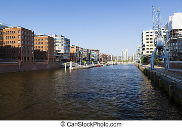 Hafencity Sandtorhafen in Hamburg, Germany - Sandtorhafen in...