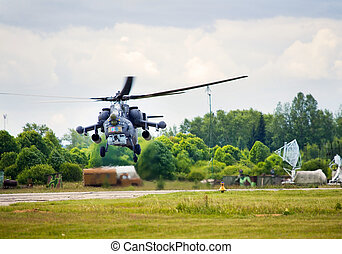 Combat helicopter - Modern russian attack helicopter Mi 28...