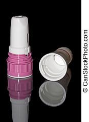 Inhalent Medical Treatment For COPD - Plastic inhaler for...