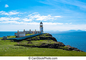 Lighhouse at Point Neist, Scotland - The lighthouse and...