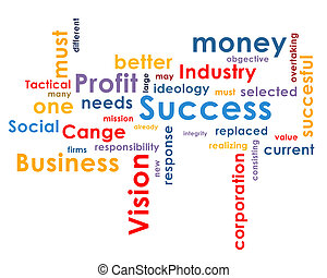 Background with business words