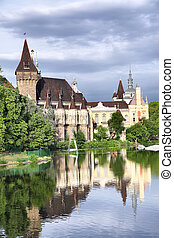 Vajdahunyad castle in Budapest, Hungary. It was built...