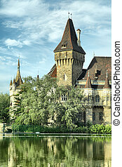 Vajdahunyad castle in Budapest, Hungary It was built between...
